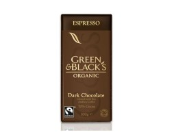 Green and Black Dark Espresso Chocolate (100g)