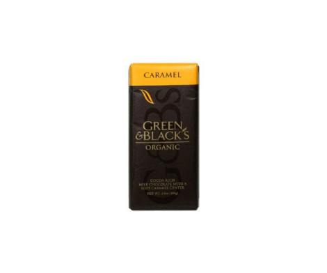 Green and Black Milk Choc with Caramel (100g)