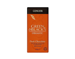 Green and Black Org. Ginger Dark Chocolate (100g)