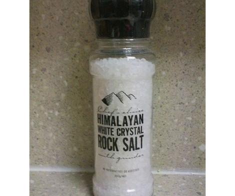 Grinder - Himalayan White Crystal Rock Salt (200g)
