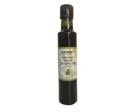 Sesame Oil - Toasted Organic; Carwari (250ml)
