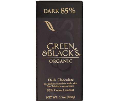 Green and Black Dark 85% Chocolate (100g)